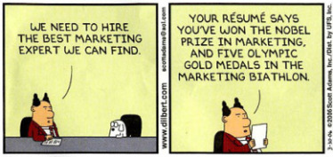 Dilbert: marketing resume