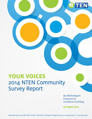 Cover of the 2014 NTEN Community Survey Report