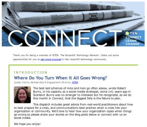 Subscribe to NTEN's Connect newsletter