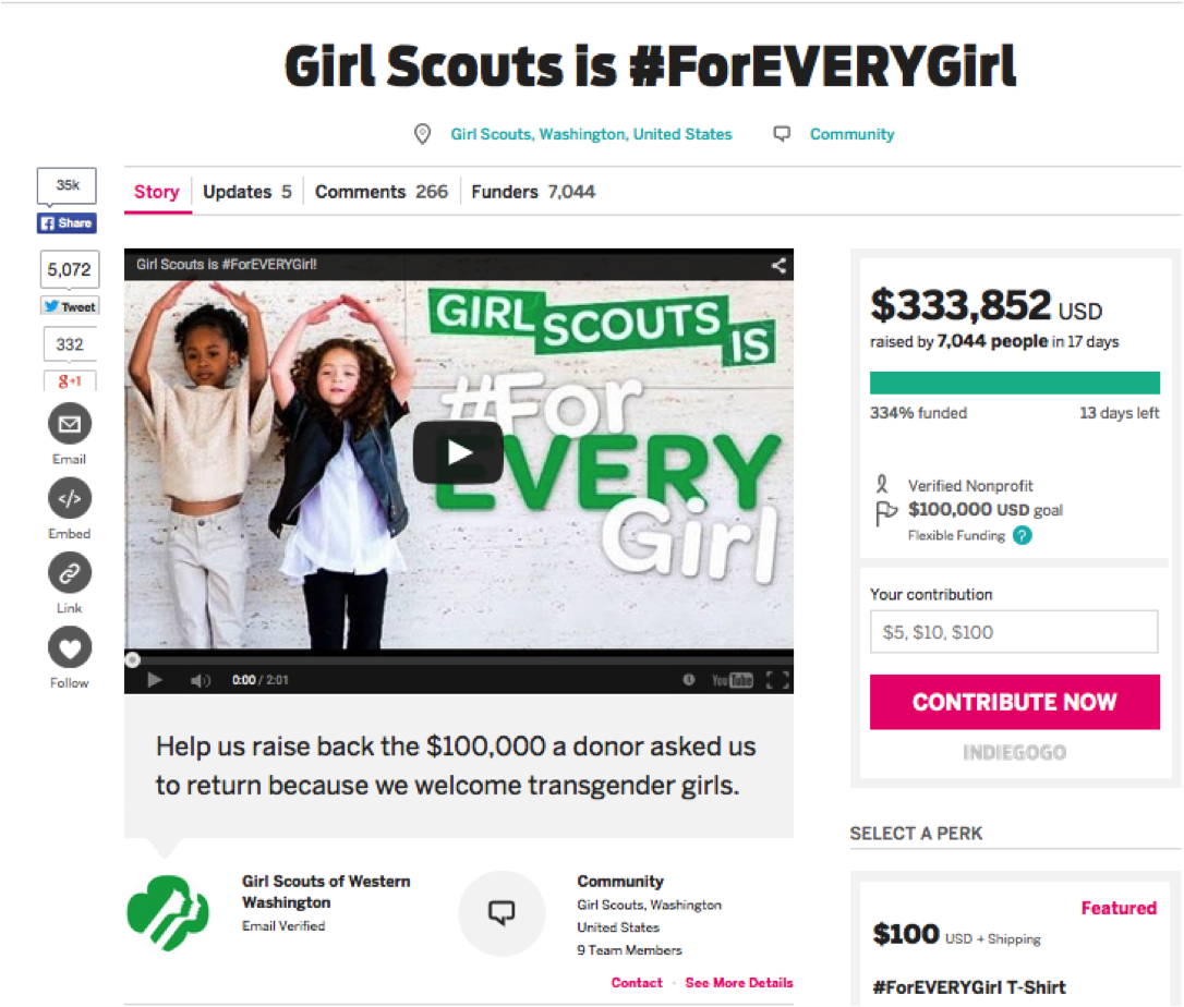 Girl Scouts #4EveryGirl campaign
