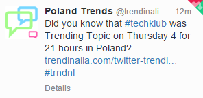 #TechKlub trending on Twitter