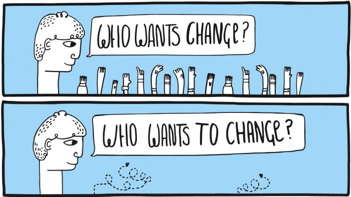 how to manage change set up a culture of change