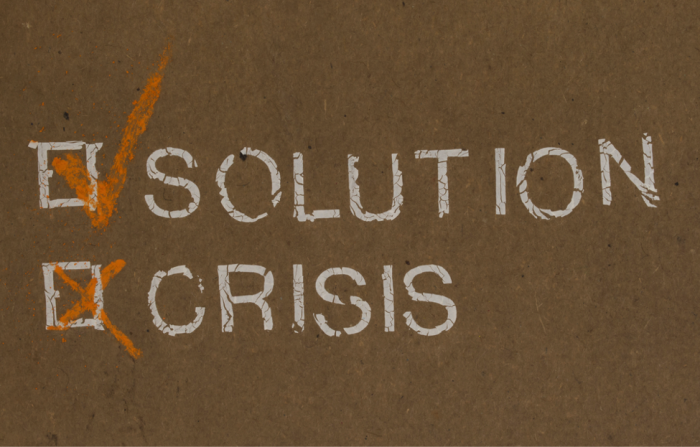 a checklist showing a solution avoids a crisis
