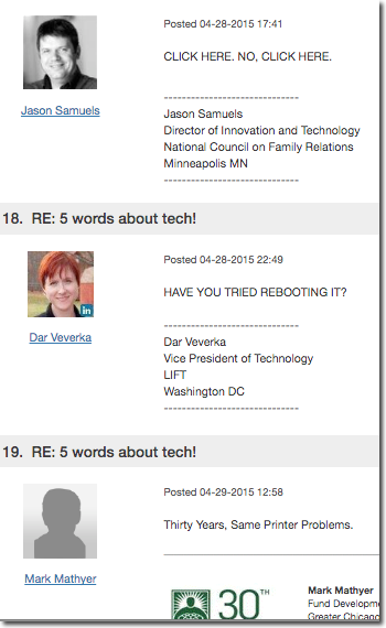 Five words about tech