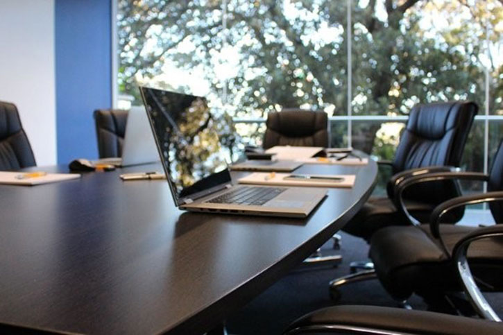 board chairs with laptop