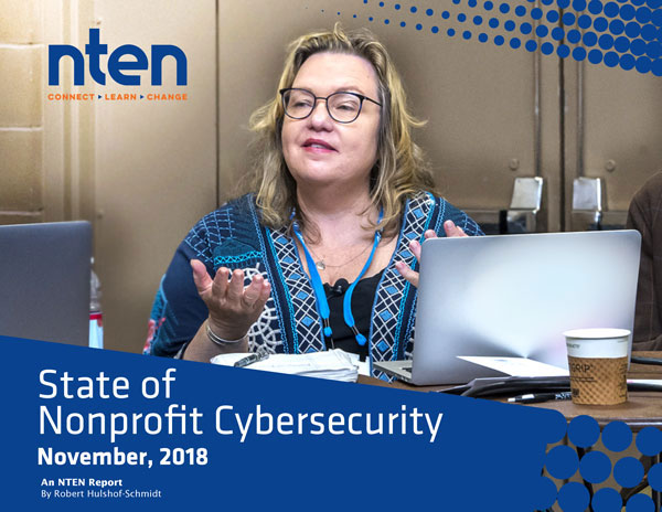 Report front cover: NTEN State of Nonprofit Cybersecurity
