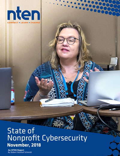 cover image of the NTEN State of Nonprofit Cybersecurity report