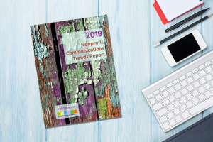 Cover of 2019 Nonprofit Communications Trends Report