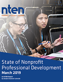 Cover photo of State of Nonprofit Professional Development March 2019 report