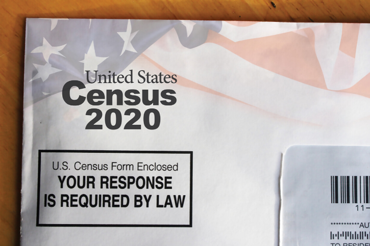 An envelope that reads, United States Census 2020. YOUR RESPONSE IS REQUIRED BY LAW.