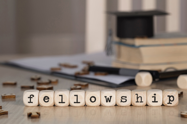 Fellowship spelled out in lettered dice.