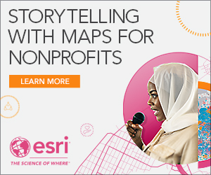 Esri ad: Storytelling with maps for nonprofits